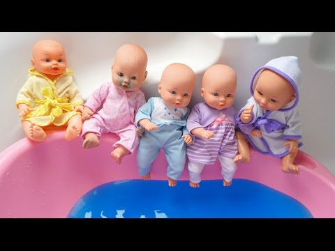 Thumbnail: 5 Baby Jumping on water Pool - Born Baby Swim Jumping Nursery Rhymes Compilation