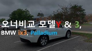 실제 오너, 테슬라 모델Y와 모델3 비교, BMW ix3, Palladium