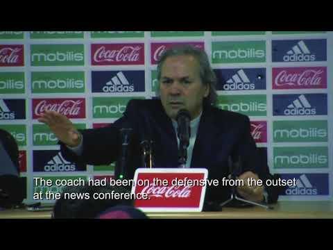 Algeria coach loses temper in news conference