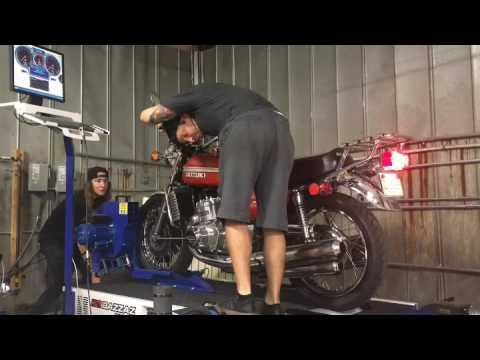 1975 Suzuki GT750 Dyno Run, Nashville Motorcycle Repair