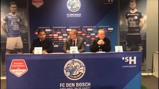 Persconferentie FC Den Bosch - Sparta Rotterdam