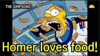 Homer's love of food (The simpsons)