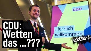 Schlegl in Aktion: CDU-Parteitag und die AKK-Saalwette