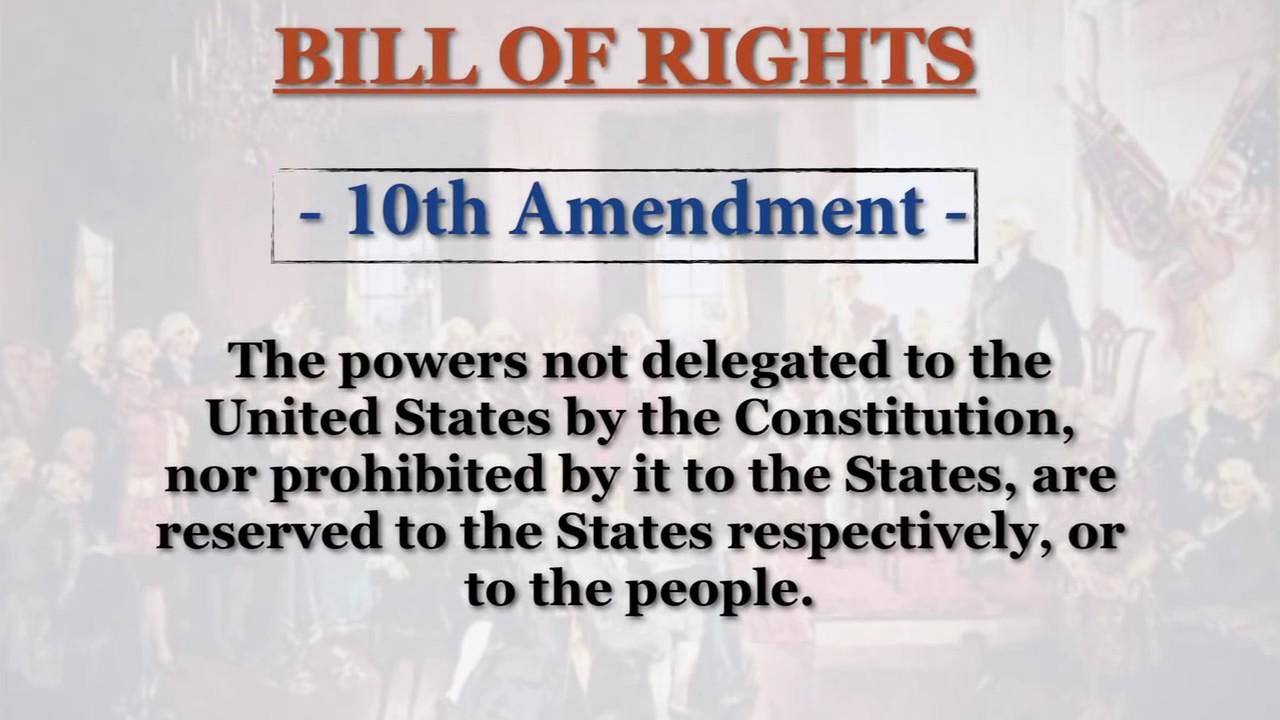 10th amendment: Bill of Rights - YouTube