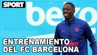 ¡PIQUÉ ENTRENA CON EL GRUPO! 🔥ENTRENAMIENTO DEL FC BARCELONA para PREPARAR EL PARTIDO contra EL PSG🏋