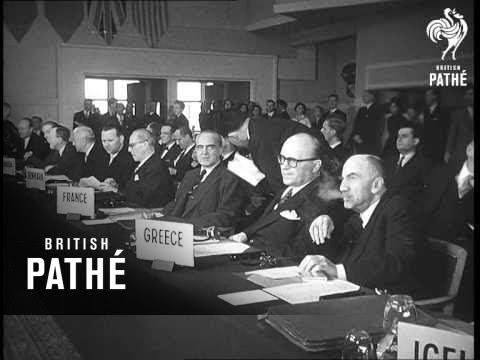 NATO Council Opens In Paris (1954)