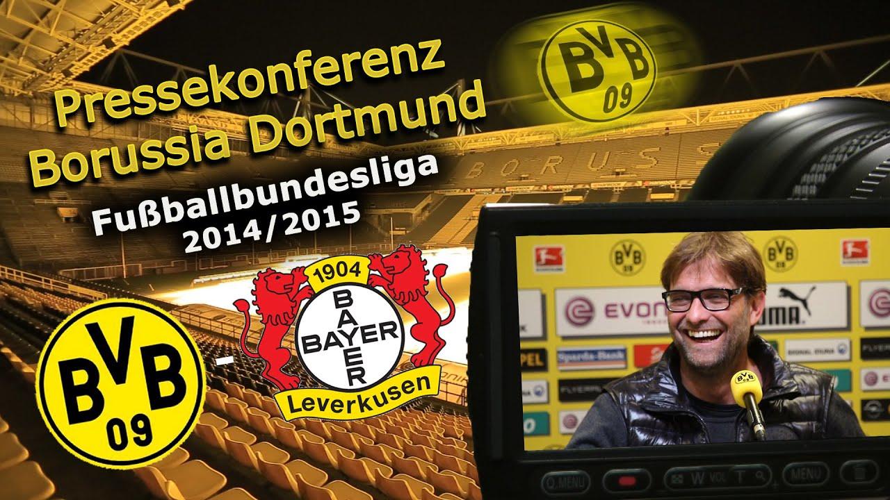 BVB-Pressekonferenz: BVB - Bayer 04 Leverkusen