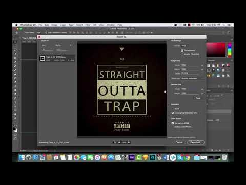 Photoshop CC 2017 - Export As Vs Save For Web