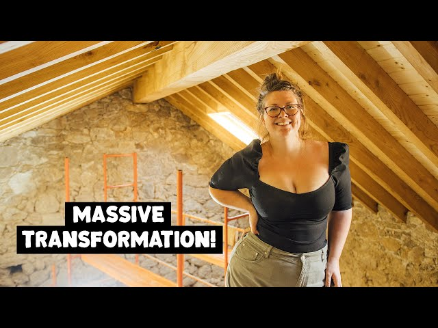TRANSFORMING Our Tiny Home CEILING   Building Our Dream Home in Central Portugal
