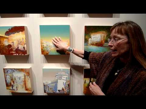 Carol Carter describes 'Italian Suite paintings'