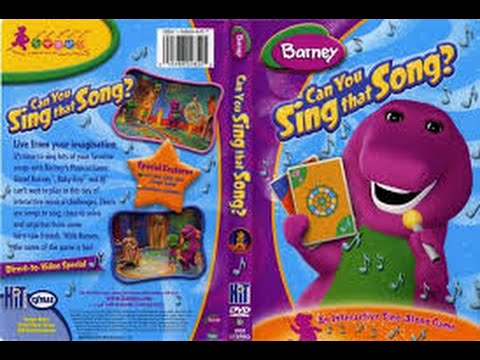 Barney Can You Sing That Song Dvd Menu
