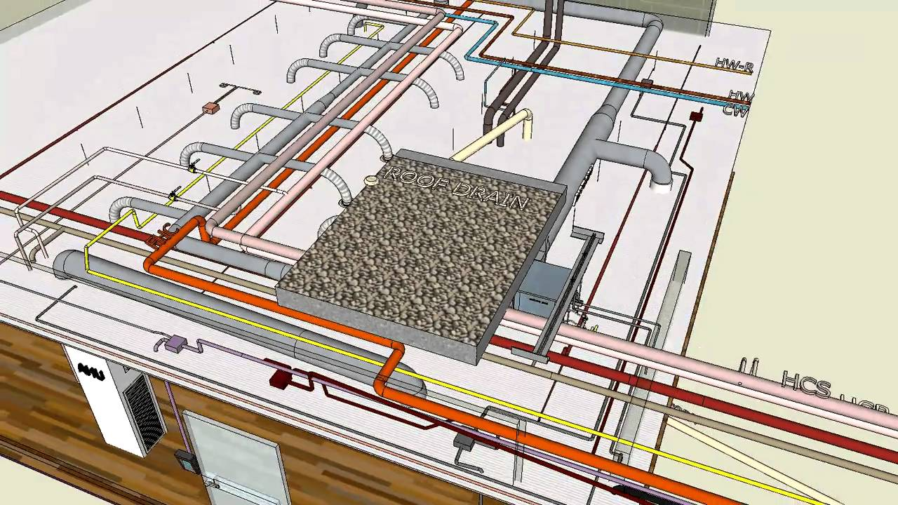 MECHANICAL & ELECTRICAL  TYPICAL 3D  SKETCHUP  YouTube