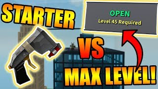 STARTER LAUNCHER VS. FINAL LEVEL! (LVL 45) | ROBLOX: Destruction Simulator