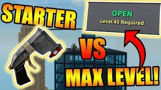 LANCEUR DE DÉMARRAGE VS. NIVEAU FINAL ! (LVL 45) ROBLOX: Simulateur de destruction