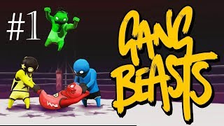 Gang Beasts Funny Moments - Highway Olympics and Burger Abuse!!