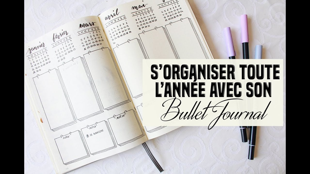 comment s 39 organiser sur toute l 39 ann e avec son bullet journal youtube. Black Bedroom Furniture Sets. Home Design Ideas