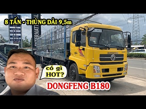 Xe Dongfeng B180 Thùng Dài 9.5m 2019 - So Sánh Với FAW 7t6 Dài 10m