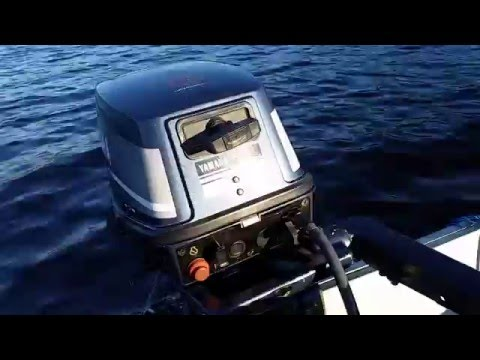 Yamaha 6hp outboard motor 2 stroke on 10 foot alumarine for Yamaha 6hp outboard motor