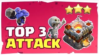 TOP 3 BEST TOWN HALL 11 WAR ATTACK STRATEGY (3 STAR TH11 BASE) CLASH OF CLANS