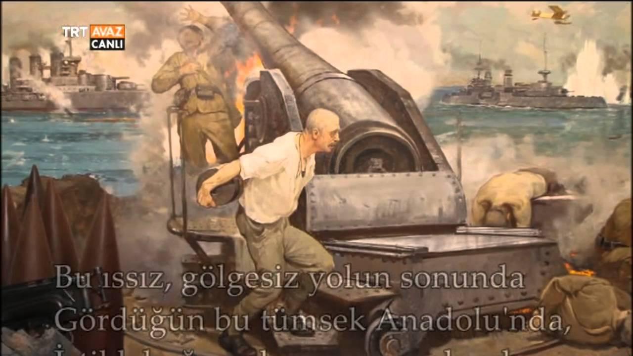 Dur Yolcu şiiri Necmettin Halil Onan çanakkale 18 Mart