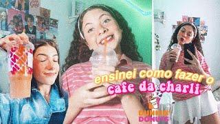 como fazer o CAFÉ DA CHARLI DAMELIO do tiktok - (charli favorite coffe from dunkin donuts)