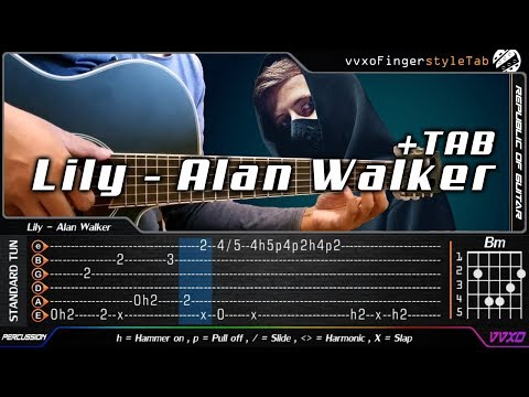 Lily - Alan Walker, K 391 & Emelie Hollow - Fingerstyle Guitar Cover + TAB Tutorial