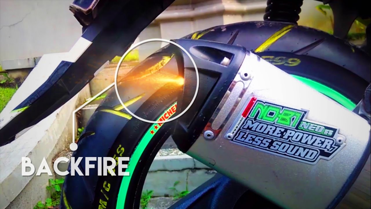 #04 BackFire in honda BeAT motorcycle exhaust