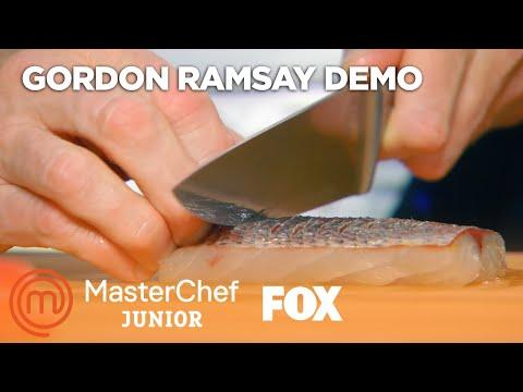 Gordon Ramsay Demonstrates How To Make The Perfect Sea Bass | Season 5 Ep. 3 | MASTERCHEF JUNIOR