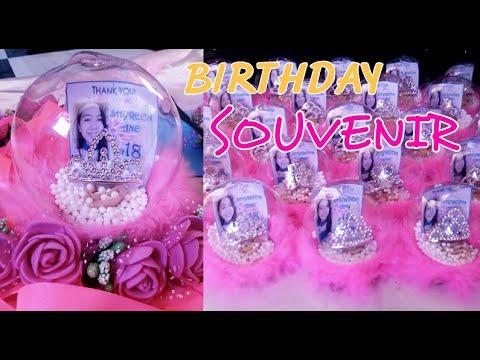 DIY | Birthday Souvenir (Snow Globe)