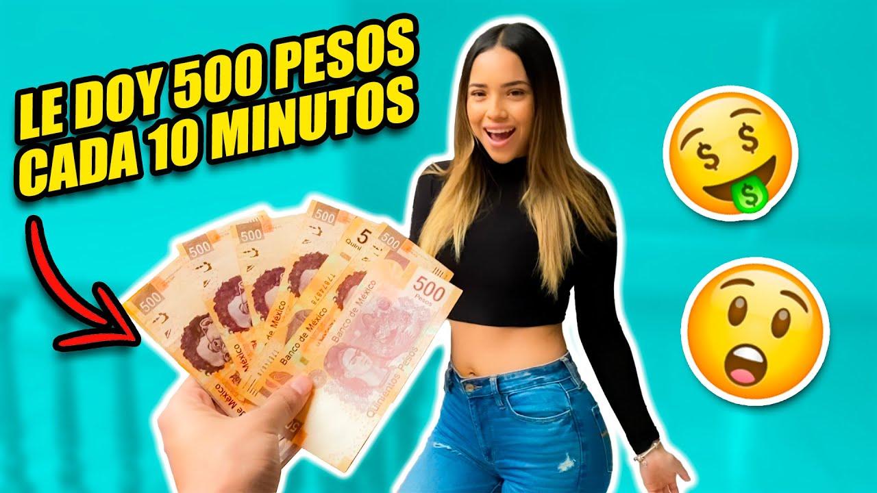 RETO LE REGALÓ A MI NOVIA $500 CADA 10 MINUTOS *mira como reacciona*