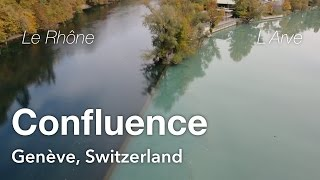 confluence of rhne and arve geneva switzerland