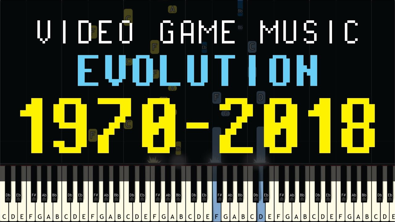 Time Machine of Video Game Music (1970-2018) - Up to 68 Games in 15 Minutes  - Synthesia Version
