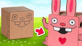 How to Make a Cardboard Bunny | DIY Ideas for kids on Box Yourself