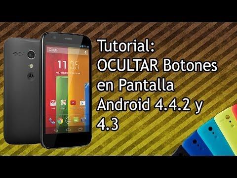 VideoTutorial | Ocultar Botones en Pantalla Moto G, Nexus, Etc. con GravityBox [Root] HD