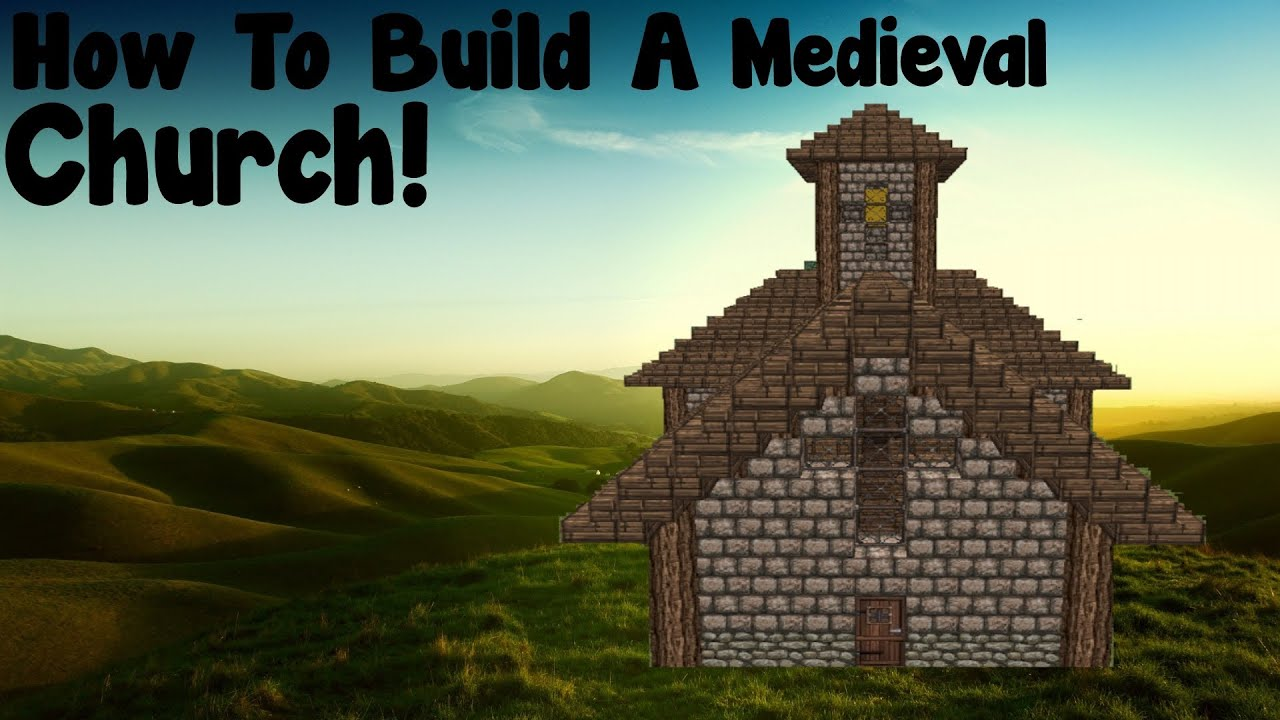 Minecraft tutorial how to build a medieval church youtube minecraft tutorial how to build a medieval church malvernweather Images