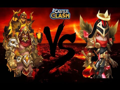 Castle Clash: Grimfiend Vs Michael | Is Michael'shield His Life INSURANCE?