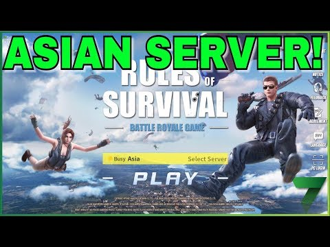 THE ASIAN SERVER! | Rules of Survival