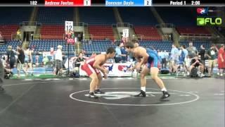 Cadet 182 - Andrew Fenton (Ohio) vs. Donovan Doyle (Iowa)