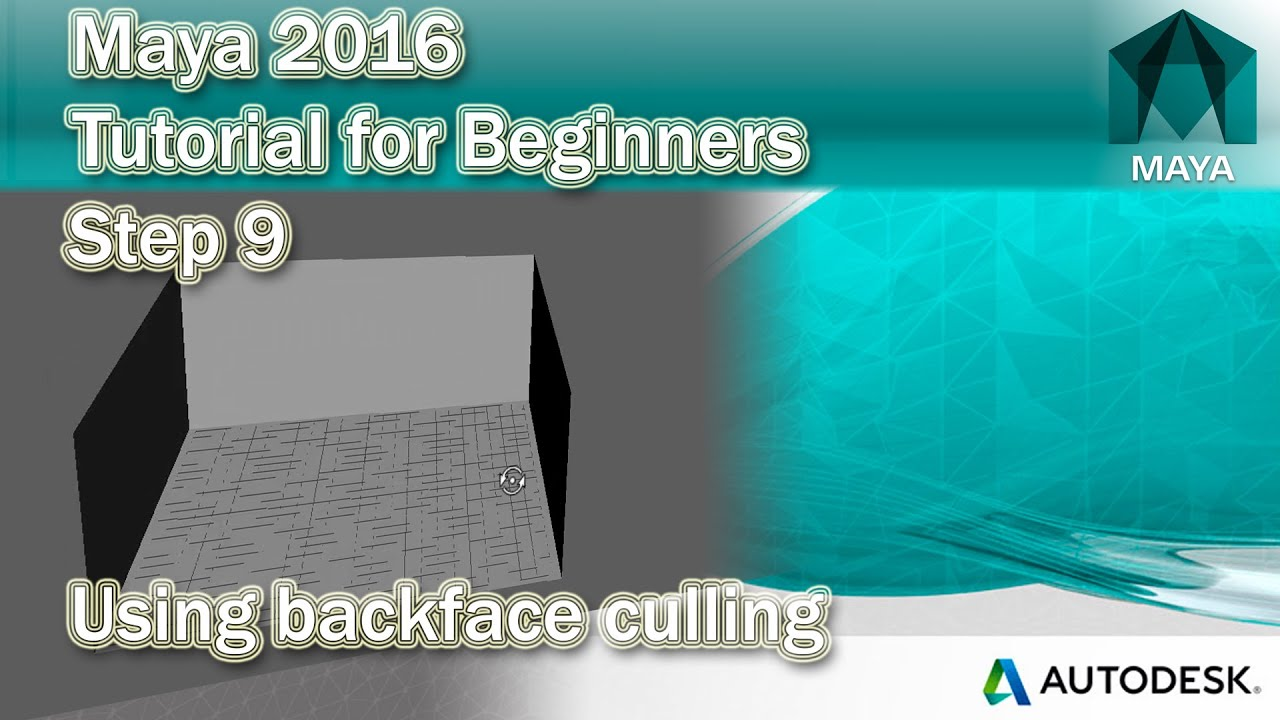 maya how to turn backface culling off by default