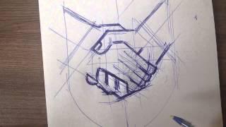 логотип юридической фирмы(Процесс разработки логотипа в студии дизайна. Разработка логотипа начинается с эскиза., 2014-08-28T09:05:44.000Z)