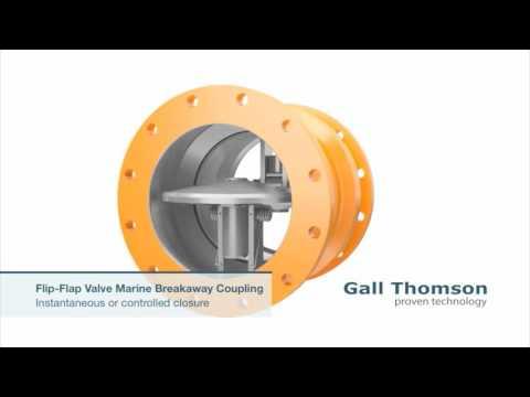 Gall Thomson Flip Flap Valve Marine Breakaway Coupling