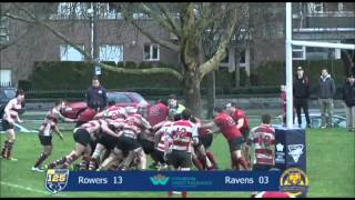 Rugby Highlights: Ravens v Rowers, CDI Premier Division, Feb 7, 2015