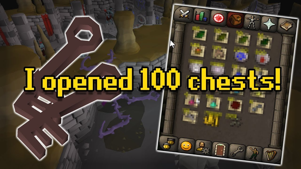 Loot From 100 Grubby Chests *New OSRS Forthos Dungeon*