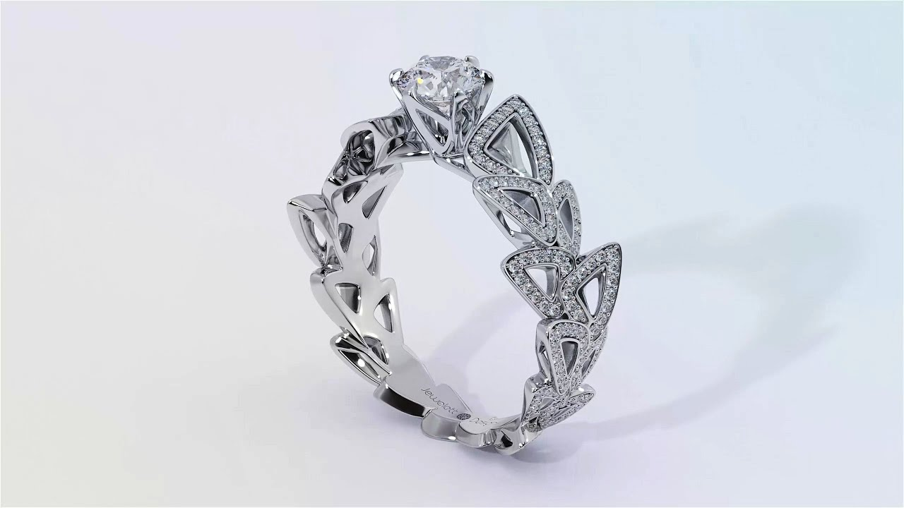 in rings diamond round carat ring new infinity sparkling gold white engagement design cut products