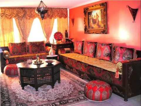 moroccan style living room decor brown leather furniture decorating ideas best youtube