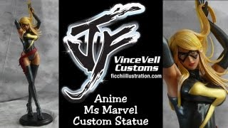 Ms Marvel Anime Custom Statue