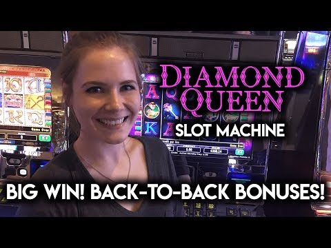 BIG WIN! CRAZY Back to Back BONUSES! Diamond Queen Slot Machine!!!