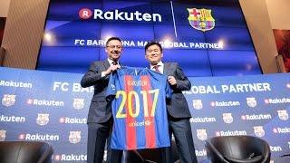 Presentación de Rakuten como patrocinador global principal del FC Barcelona