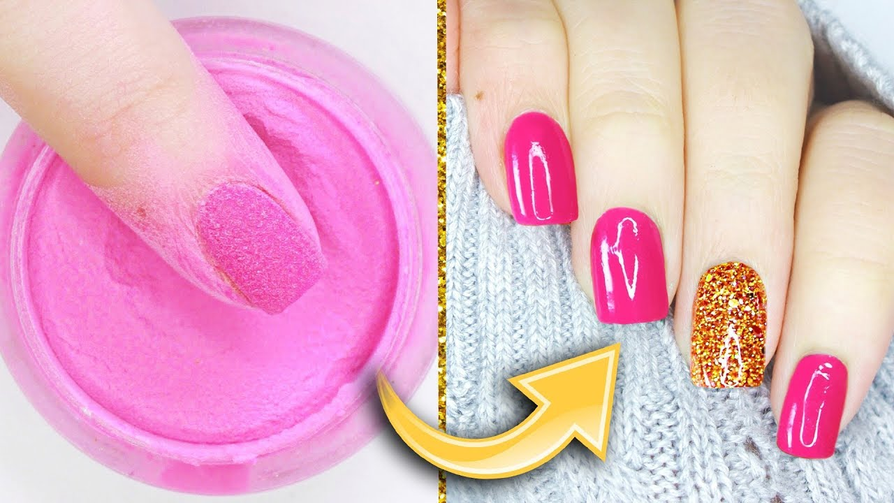 Dip Powder Nails The Healthy Strong Magic Of Sns Youtube