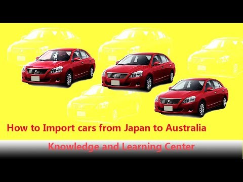 how to import car from japan to australia youtube. Black Bedroom Furniture Sets. Home Design Ideas